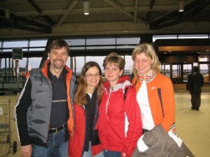 Saying goodbye at the Ottawa Airport, 13 January 2006